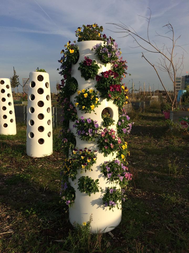 vertical garden tube